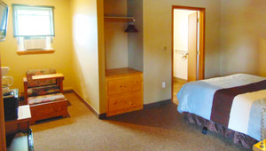 1 Queen Bed, Sleeper Couch in the Lodge Photo 2